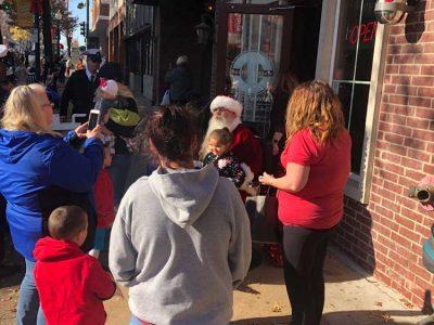 Santa At Champion Barber Shop