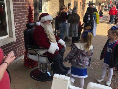 Santa Sitting In Chair